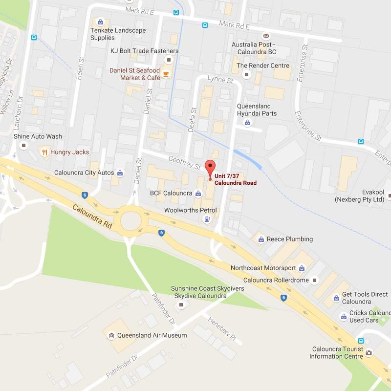 Map of Brookers Caloundra